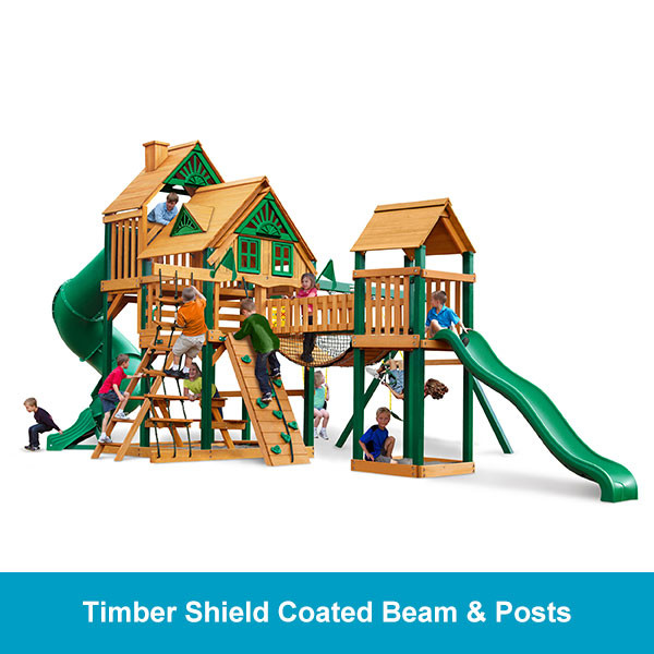 Gorilla Playsets Treasure Trove Treehouse - Timber Shield Beam & Posts
