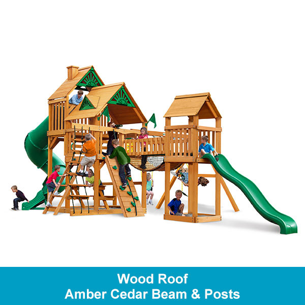 Gorilla Playsets Treasure Trove Wood Roof - Amber Cedar Beam & Posts